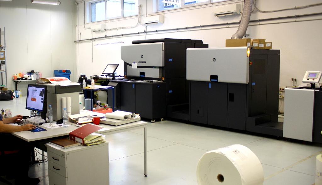 Dział druku cyfrowego w drukarni RSC