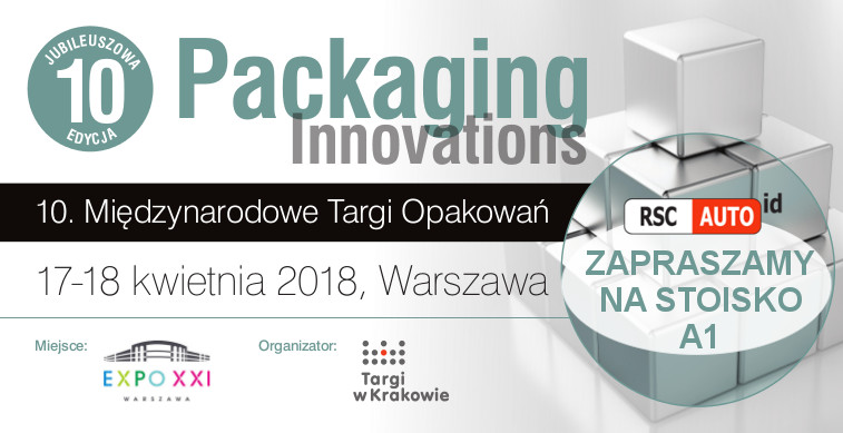 RSC Auto ID podczas Packaging Innovations 2018
